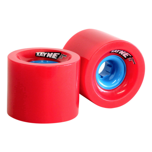 Rayne Longboards Lust Longboard Wheel 70mm 77a Red/Blue