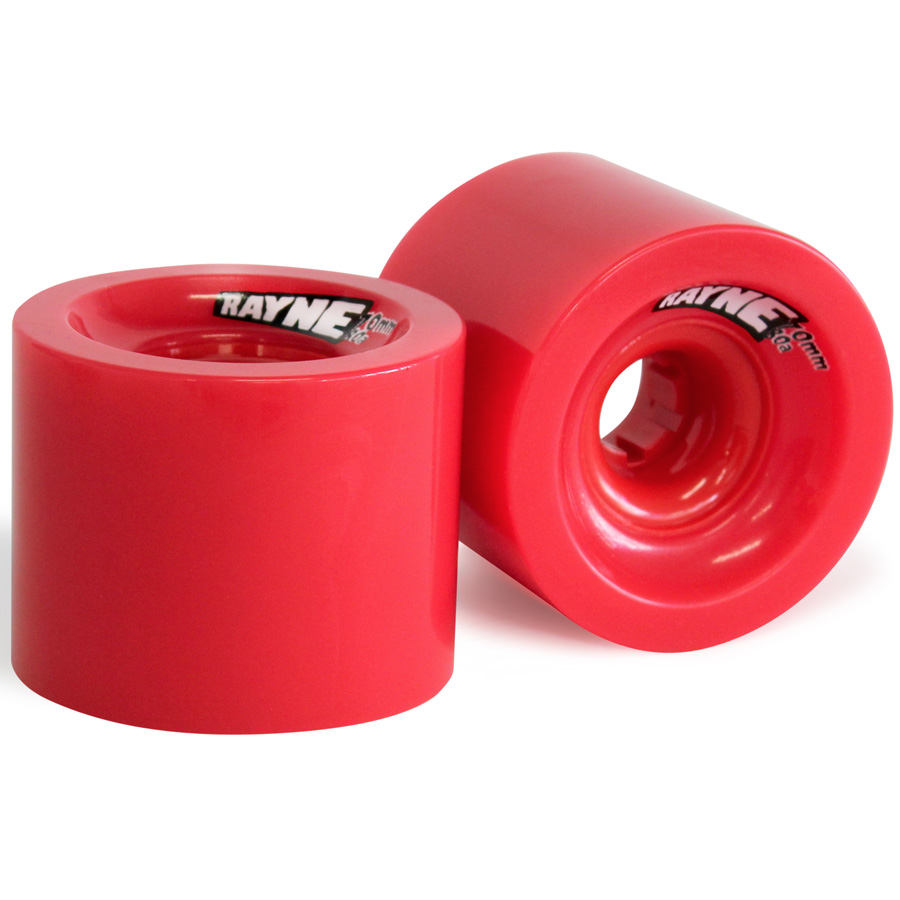 Rayne Longboards Lust Longboard Wheel 70mm 80a Red/Red