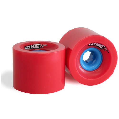 Rayne Longboards Lust Longboard Wheel 75mm 77a Red/Blue