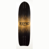 Rayne Longboards Genesis Longboard Skateboard Deck Top View Black Logo