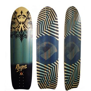 Rayne Longboards Genesis Deck in Deelite Construction