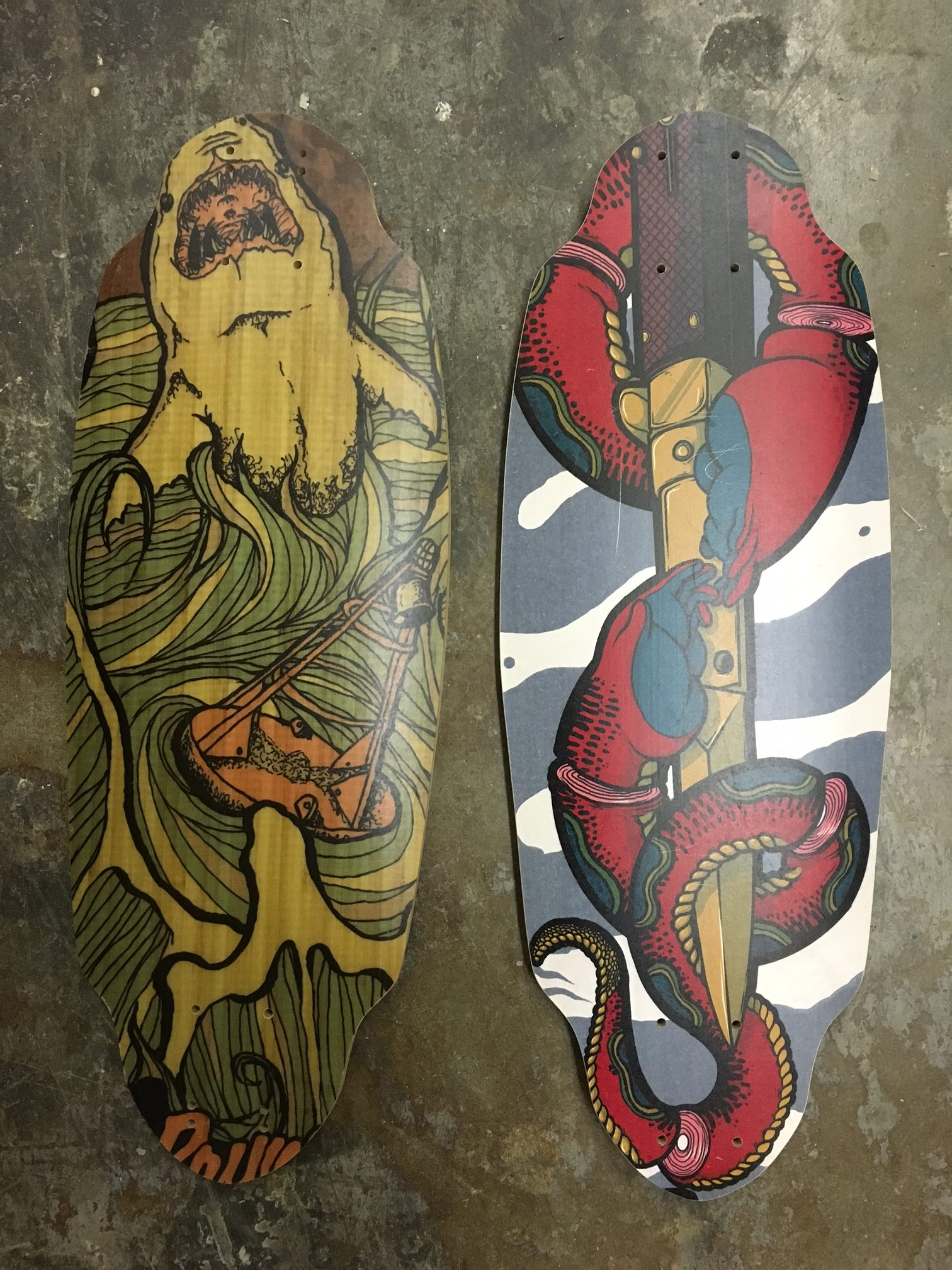 Two OG Shape Rayne Mini Longboards