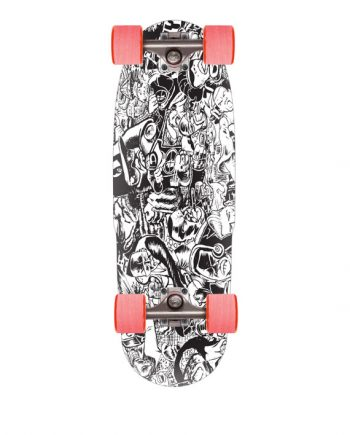 "rayne micro mini longboard 24x7.75"" cruiser longboarding 65mm wheels carving trucks"