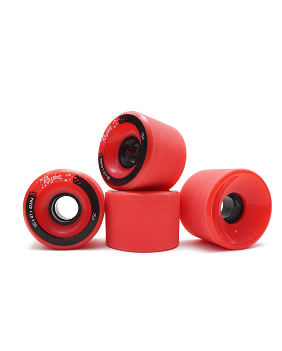 rayne longboard wheels round 1 prototypes stoneground 65mm 75a fun to slide