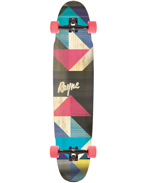 rayne forge camber bamboo fiberglass longboard carving deck complete