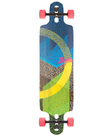 Vendetta Drop Through Longboard Bamboo Fiberglass The BEST for pushing and learning to slide
